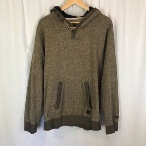 Billabong Rasta fleece hooded Henley sweatshirt